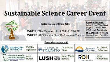 Sustainable Science Career Event